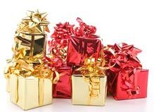 Getrennter Haufen der Geschenke Stockfotografie