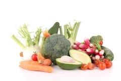 Getrennter Haufen des Gemüses Lizenzfreie Stockbilder