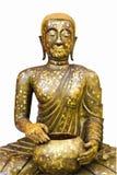Getrennter heiliger goldener Buddha Stockfoto