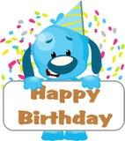 Getrennter Hund mit Geburtstagzeichen Stockfoto