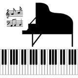 Getrennter Klavier-Vektor Stockfoto