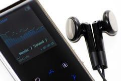 Getrennter MP3-Player auf weißem Hintergrund Stockfoto