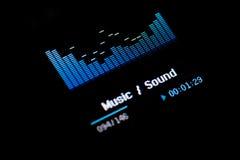 Getrennter MP3-Player auf weißem Hintergrund Stockbilder