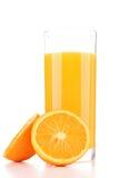 Getrennter Orangensaft Stockbild