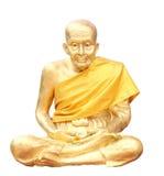 Getrennter Schuß der Statue des buddhistischen Mönchs Lizenzfreie Stockfotos