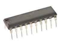 Getrennter schwarzer Mikrochip Stockfoto