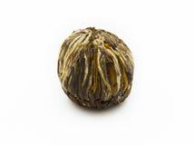 Getrennter Startwert für Zufallsgenerator des blühenden grünen Tees stockfotos