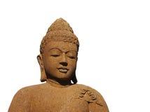 Getrennter Steinbuddha mit warmer Farbe Stockbilder