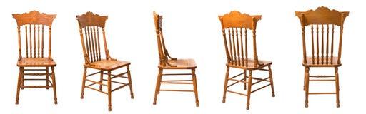 Getrennter Stuhl, fünf Stellungen Stockfotos