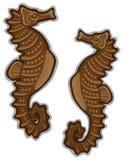 Getrennter weißer Hintergrund des Seahorse Paare Lizenzfreie Stockbilder
