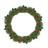 Getrennter WeihnachtsWreath stockfotografie