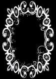 Getrenntes abstraktes Weiß auf schwarzem Rand Lizenzfreie Stockbilder