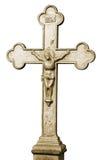 Getrenntes altes christliches heiliges Kreuz Stockfoto