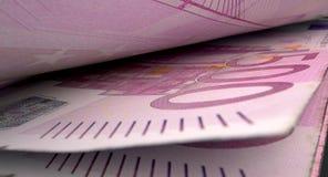 Getrenntes Banknoten-Nahaufnahme-Detail Stockfotos
