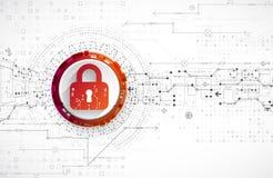 Getrenntes Bild 3D auf Weiß Sicherheitsmechanismus, Systemprivatleben Lizenzfreies Stockbild