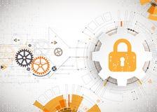 Getrenntes Bild 3D auf Weiß Sicherheitsmechanismus, Systemprivatleben stock abbildung