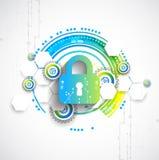 Getrenntes Bild 3D auf Weiß Sicherheitsmechanismus, Systemprivatleben Lizenzfreie Stockfotos