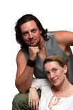 Getrenntes formales Portrait der Paare Stockbild