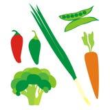 Getrenntes Gemüse Stockbilder
