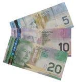 Getrenntes kanadisches Geld Stockfoto
