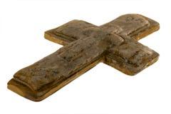 Getrenntes Kreuz auf Weiß Stockbild