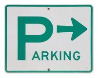 Getrenntes parkendes Zeichen Lizenzfreie Stockfotos