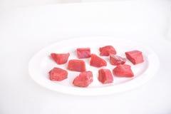 Getrenntes rohes Rindfleisch Stockbilder