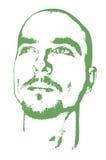 Getrenntes träumerisches Gesicht stockbild