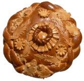 Getrenntes ukrainisches festliches Bäckerei Feiertags-Brot 2 Lizenzfreies Stockbild