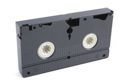 Getrenntes VHS-Band auf Weiß Stockfoto