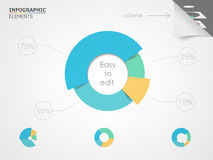 Getrenntes Weiß Elemente für infographic Stock Abbildung