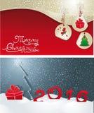 Getrenntes Weihnachtsset Stockfoto