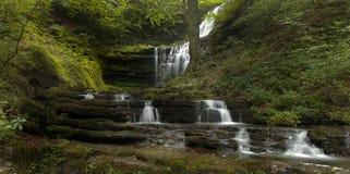 Getretener Wasserfall stockbilder