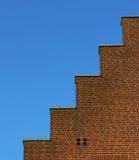 Getretenes Dach des Hauses Stockfotografie