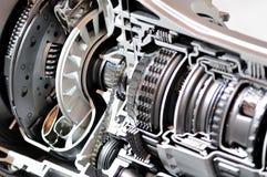 Getriebe- und Kupplungsquerschnitt. Stockbild