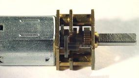 Getriebemotor dreht sich an der hohen Geschwindigkeit stock video footage