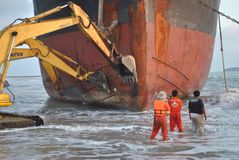 Getriebener Öltanker Lizenzfreie Stockbilder