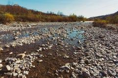 Getrocknet herauf Fluss Stockfotografie
