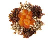 Getrocknete Aprikosen, Rosinen, Muttern stockfotos