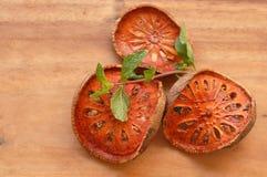 Getrocknete bael Frucht Stockfoto