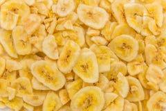 Getrocknete Banane bricht Nahaufnahmeschuß, selektiven Fokus ab Stockbilder