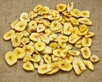 Getrocknete Bananen Stockfotografie