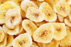 Getrocknete Bananenchips Lizenzfreies Stockbild