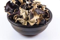Getrocknete chinesische schwarze Pilze, Auricularia polytricha, nennen auch Lizenzfreie Stockfotografie