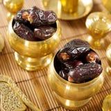 Getrocknete Dattelpalme Früchte oder kurma Stockfoto