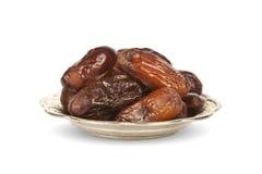Getrocknete Dattelpalmefrüchte oder kurma, (ramazan) Lebensmittel Ramadans Lizenzfreies Stockbild