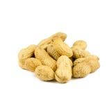 Getrocknete Erdnüsse herein auf Weiß Stockbilder
