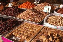 Getrocknete Früchte auf Verkauf Lizenzfreie Stockfotografie