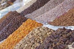Getrocknete Früchte von Marrakesch Medina Stockfotografie