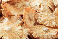 Getrocknete geschnittene Ananas. Ökologische Nahrung Stockbild